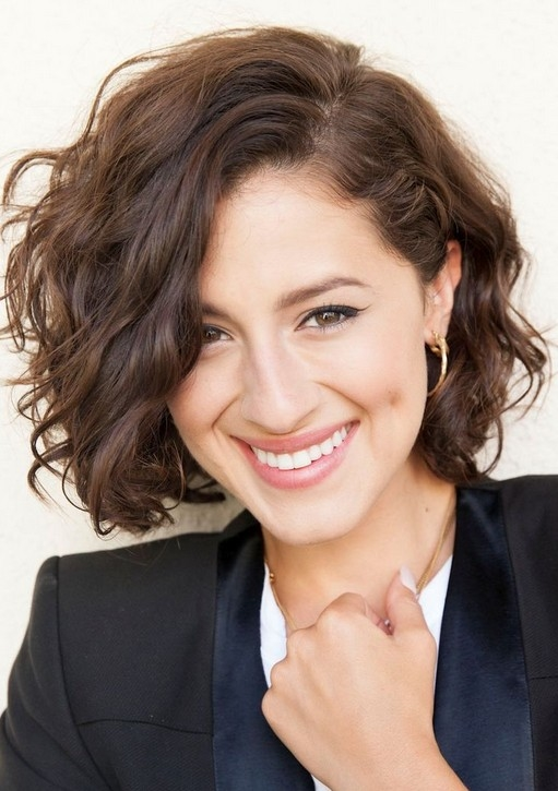 Cute Messy Short Wavy Curly Hairstyle For 2014 Curly Hair Is